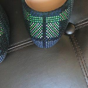 J. Crew Shoes - JCrew Etta Navy Plaid Jeweled Toe Pump